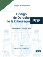 BOE-173 Codigo de Derecho de La Ciberseguridad