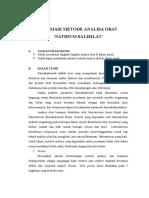 Optimasi Metode Analisa Obat p1