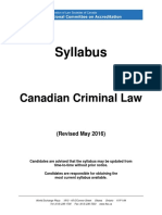 2016 NCA Canadian Criminal Law Syllabus