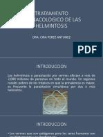 Tratamiento Farmacologico de Las Helmintosis