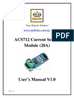 ACS712 Current Sensor Module (20A) User's Manual v1.0