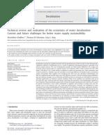 8..Technicalreviewandevaluationoftheeconomicsofwaterdesalination(Noreddine Gafour)