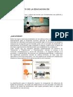 Planeamiento de La Educacion en Guatemala