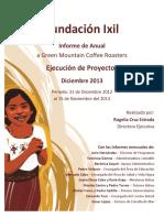 Fundación Ixil - Informe de Actividades 2013