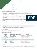 prefixe sufixe