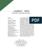 18Cadernos IPPUR - Ano XII, n2, Ago-Dez 1998