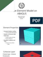 Cohesive Element Model on ABAQUS