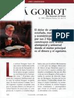 Analisis de Papá Goriot
