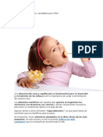 Alimentos Nutritivos y Saludables Para Niños