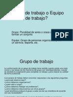 Grupos de Trabajo o Equipo de Trabajo- PP