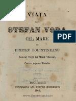 (1863) Viaţa Lui Ştefan Vodă Cel Mare [D. Bolintineanu]