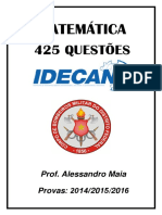 Apostila Matem_tica 425 Quest_es Idecan