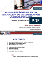 Buenas Practicas en La Aplicacion de La Legislacion Laboral Peruana