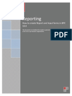 Reporting Document-sap bpc epm