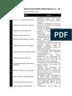 Títulos de Investigaciones Personales 4