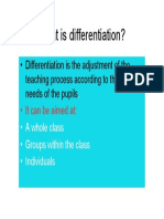 What is Differention
