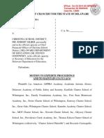 Las Americas ASPIRA v. Christina School District- Motion to Expedite and for Status Quo Petition