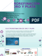 Electrorefinación de Oro y Plata