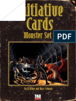 Initiative Cards. Monster Set 1
