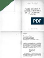 Alain Rouquié - Poder Militar y Sociedad Política en La Argentina, Cap 3