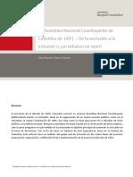 1 La Asamblea Nacional Constituyente de Colombia de 1991 – de La Exclusión a La Inclusión o ¿Un Esfuerzo en Vano