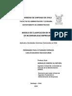 Modelo de Clasificación de Riesgo de Incobrabilidad Empresarial