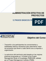 Administración Efectiva de Proyectos