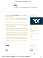 The Importance of Inhibition in Education _ the Alexander Technique