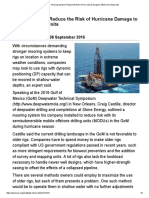 AutoPosicionamiento en plataforma petrolera