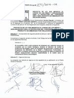 Proyecto de Ley 00290/2016-CR