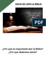 00-LA BIBLIA-Por Que Debemos Leer La Biblia