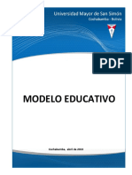 Modelo Educativo UMSS 2013