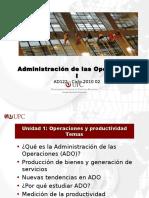 UNIDAD 1 Operaciones y Productividad