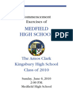 Medfield High School Graduation