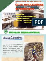 Seguridad en Operaciones Subterranea