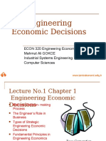 Engineering Economic Decisions