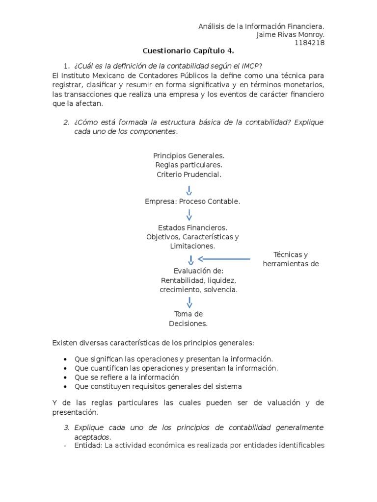 Cuestionario Capítulo 4