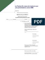 Formación Para Padres en Casos de Trastorno Por Conducta Perturbadora Junio 2008
