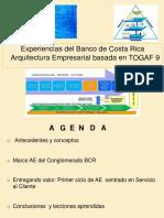 Experiencias Del Banco de Costa Rica Arquitectura Empresarial Basada en TOGAF 9