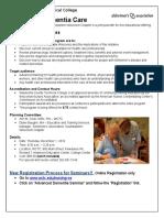 Advanced Dementia Care Seminar