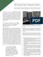 Balance sobre la conexión entre investigaciónes y políticas públicas