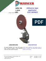 [ES][en] Cabezal Aplicador de Cinta Adhesiva _ Adhesive Tape Applicator