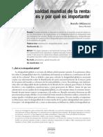 Milanovic (2006). La Desigualdad Mundial de La Renta. Qué Es y Por Qué Es Importante