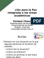 Educación Para Paz En Las Areas Academicas