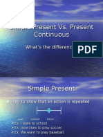 Simple Present vs Present Continuous 1