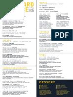 Standard Service menu