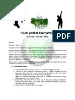PSAK Cricket Tournament for Event