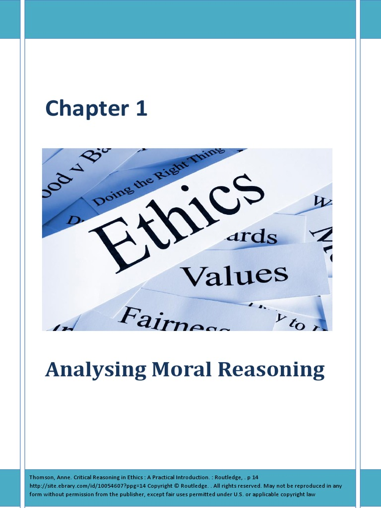 critical reasoning in ethics thomson anne