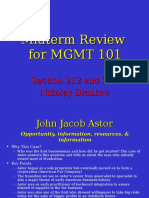Midterm Review for MGMT 1011