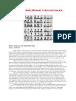 Kumpulan Transliterasi Tipologi Dalam Arsitektur
